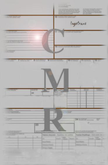 Bild eines CMR-Frachtbriefes